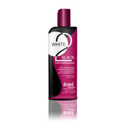 White 2 Black: Pure Pomegranate. Fast Acting Dark Tanning Intensifier